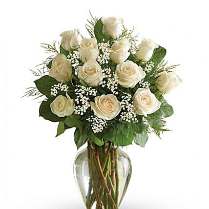 White Roses Arrangement 24