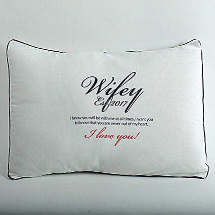 Wifey Personalized Pillow Cover