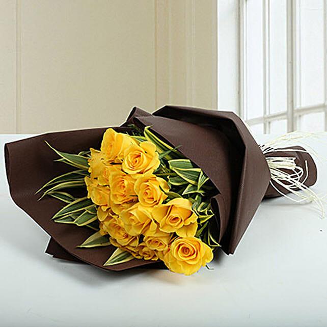 Yellow Roses Bunch Of Joy