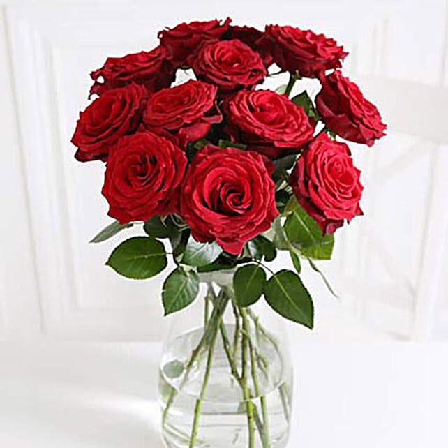 A Dozen Burgundy Roses
