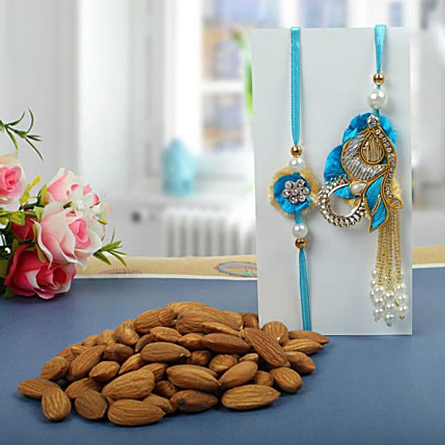 Almond nuts Rakhi Hamper