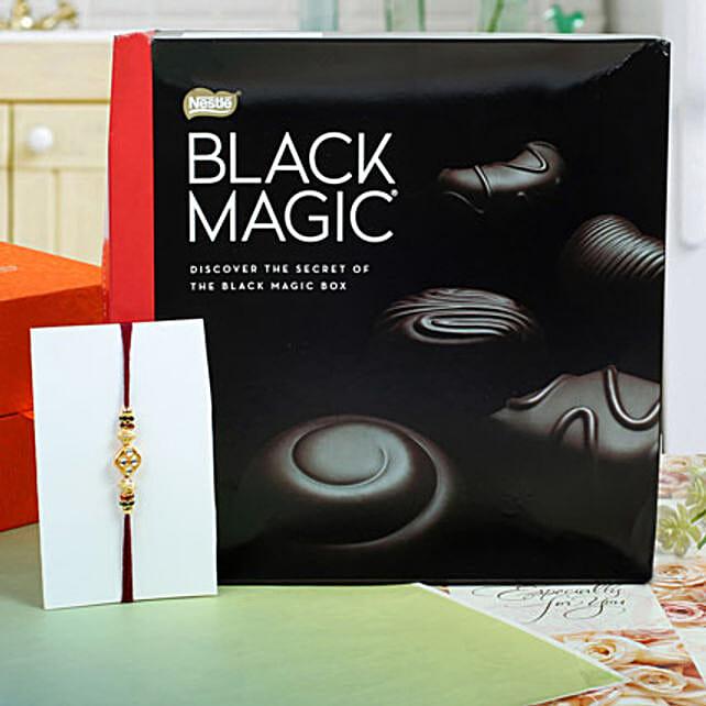 Assorted dark chocolates Diamond Rakhi Hamper