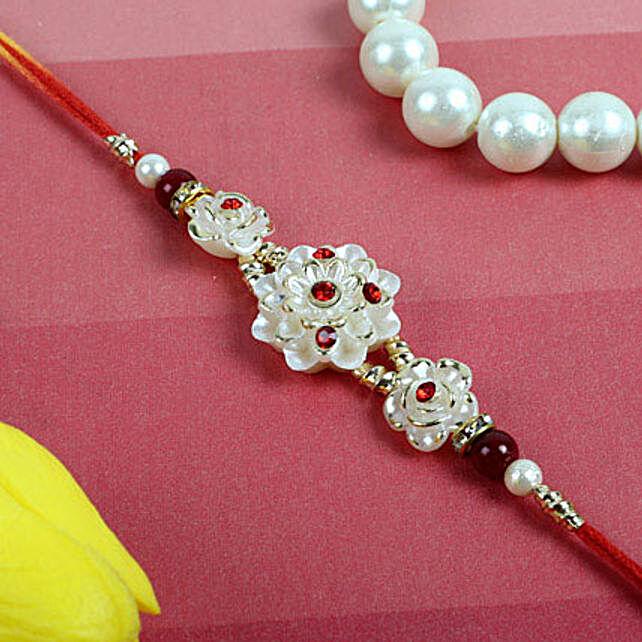 Crystal White Auspicious Rakhi
