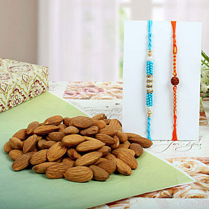 Diamond Rudraksh with Almond Nuts