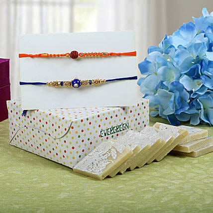 Sweet Kaju Katli Rakhi Hampers