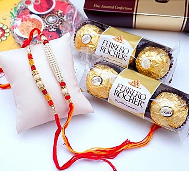 12 PCS Ferrero Rocher with 2 Rakhis