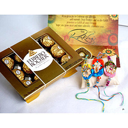 12 PCS Ferrero Rocher with 3 Rakhis