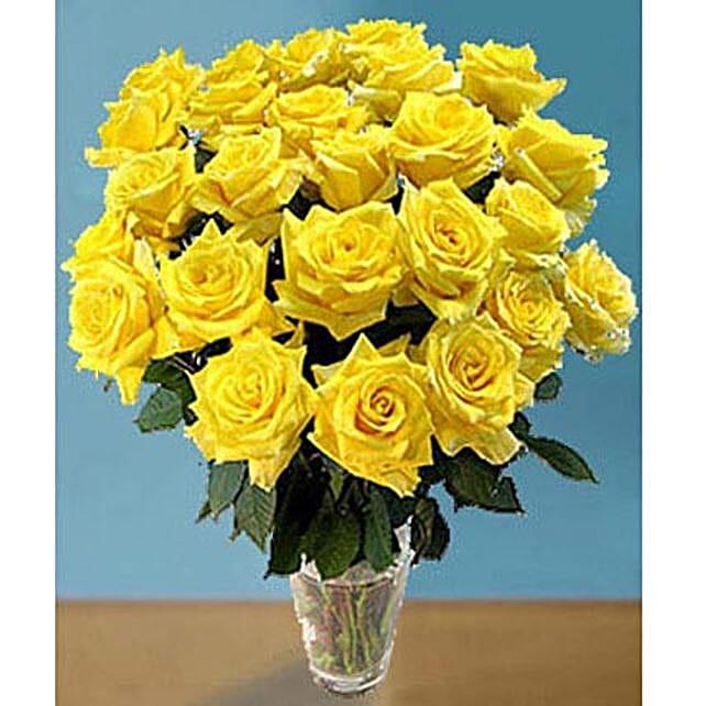 25 Long Stem Yellow Roses