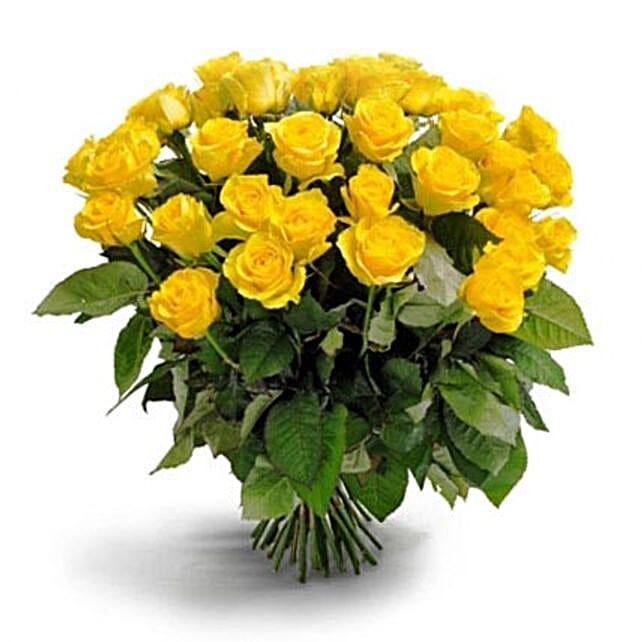 50 Long Stem Yellow Roses