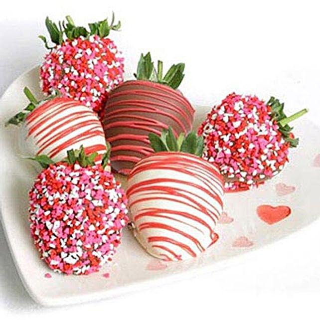 6 Choco Covered Strawberries