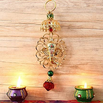 Beautiful Metallic Hanging Ganesha