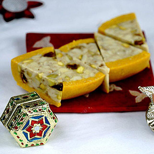 Bhaidooj Tikka and Dry Fruit Cassata Roll