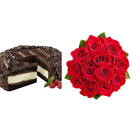 Chocolate Cheesecake and Roses
