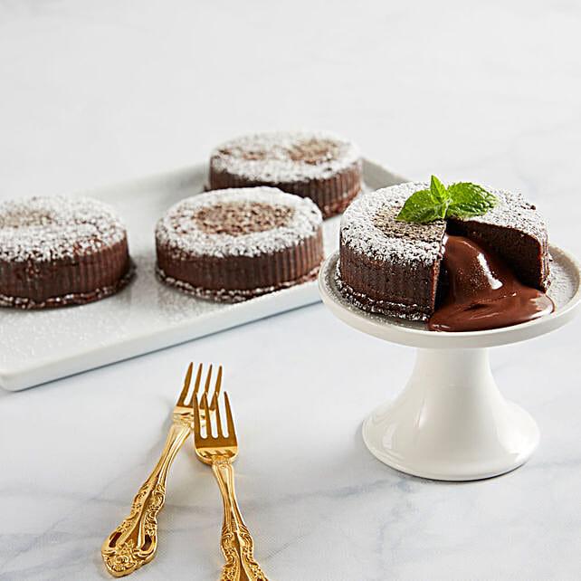 Chocolate Truffle Lava Cakes Birthday