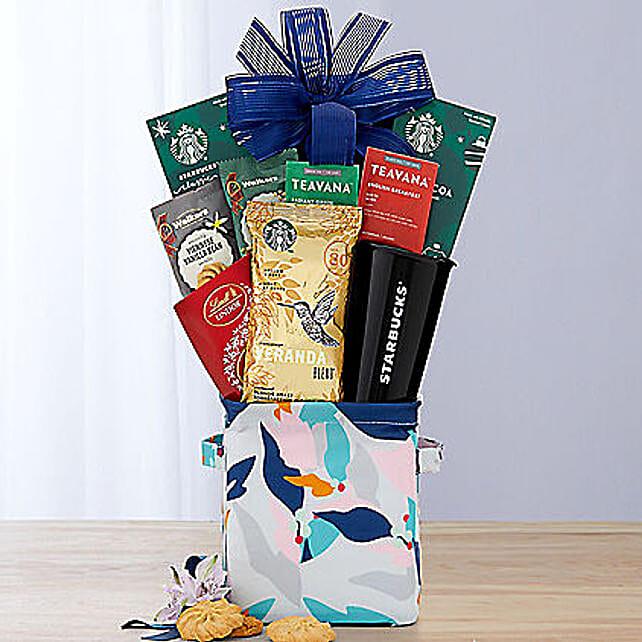Coffee Tea and Cocoa Assortment Gift Basket