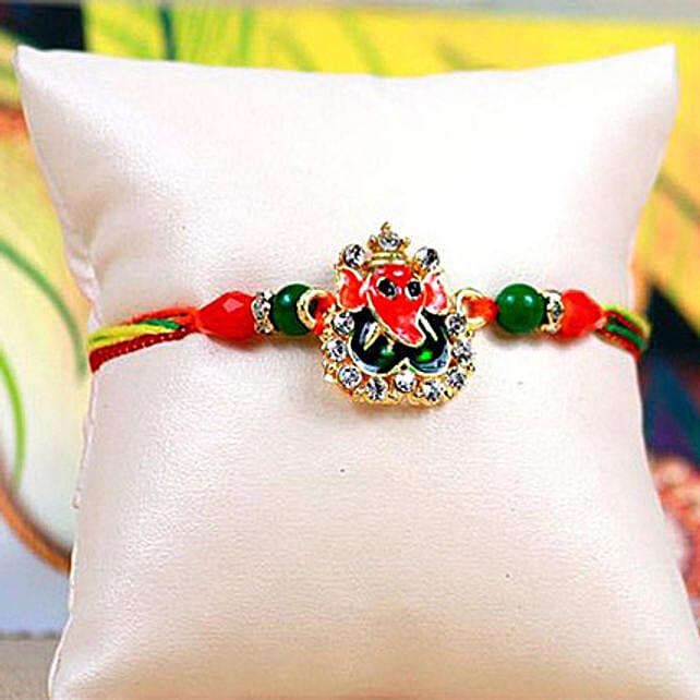 Colorful Ganesha Thread Rakhi