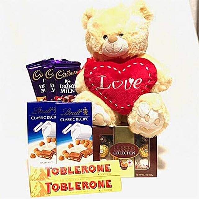 Cuddly N Chocolaty Valentine Hamper