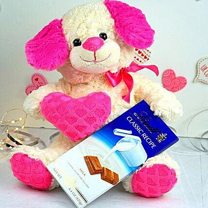 Cute Teddy N Lindt Chocolates