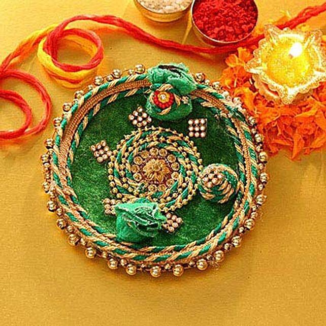 Decorated Green Tikka Thali