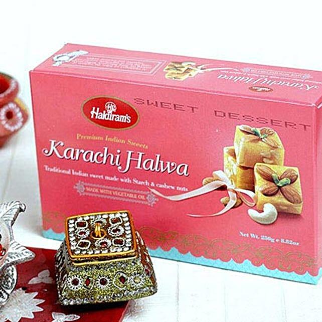 Delicious Karachi Halwa and Bhai Dooj Tikka