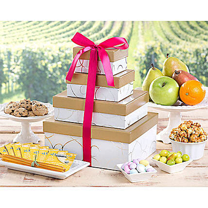 Deluxe Fruit and Sweets Tower