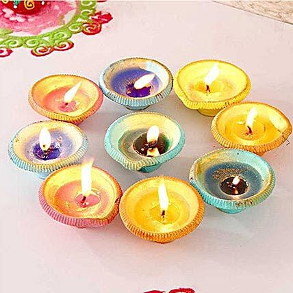 Exquisite Painted Clay Diyas