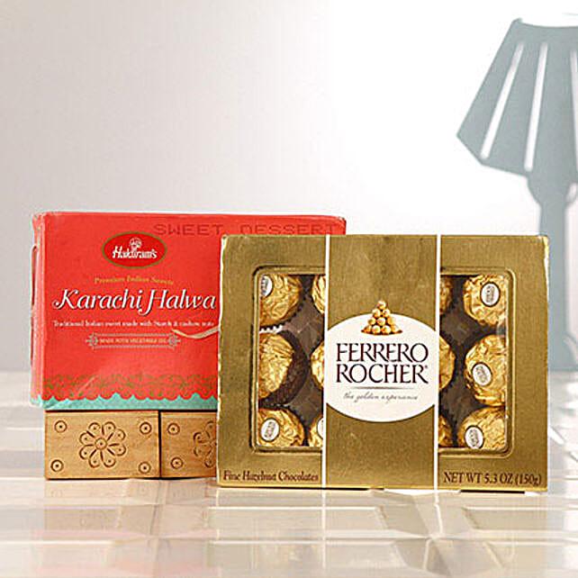 Ferrero Rocher Chocolates N Karachi Halwa