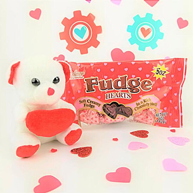 Fudge Chocolates N Teddy Combo