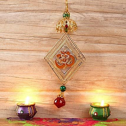 Ganesha Diamond Shaped Car Hanging