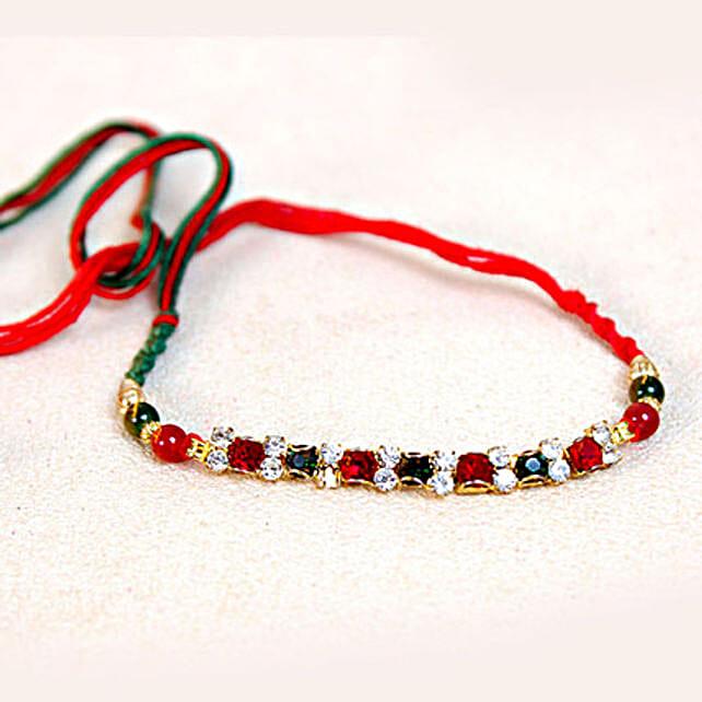 Glazing Bracelet Premium Stone Rakhi