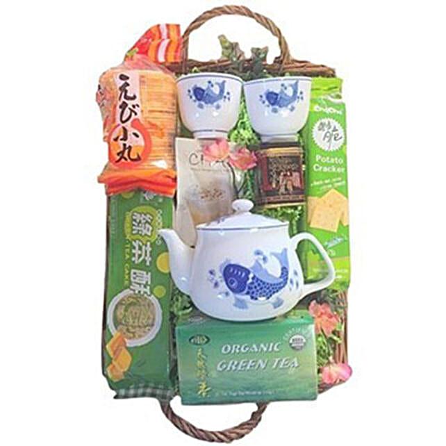 Green Tea Basket