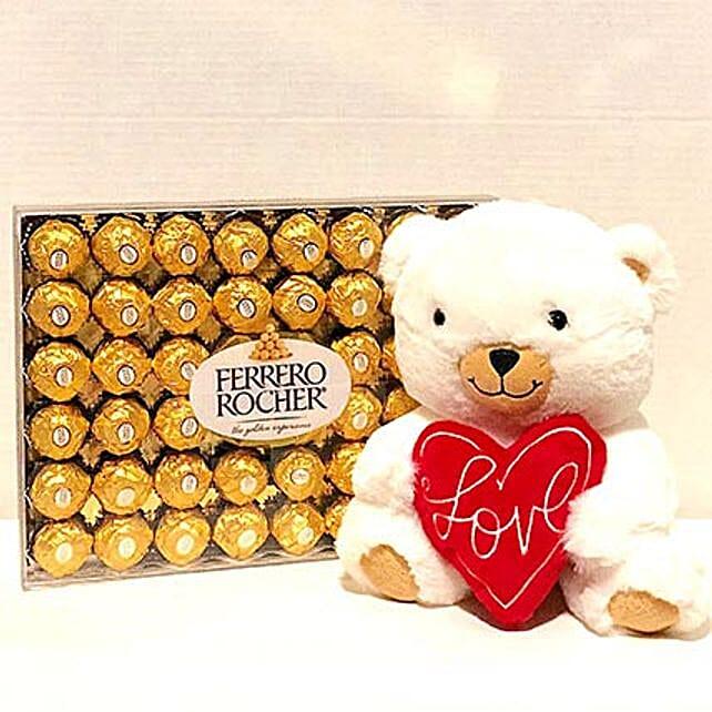 Hallmark Bear N Ferrero Rocher