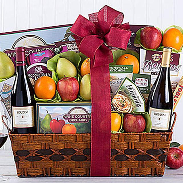 Houdini Vineyards Napa Valley Fruit Collection Gift Basket