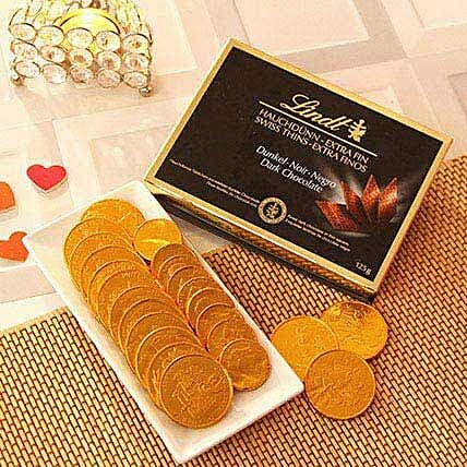 Lindt Dark Chocolate N Gold Coin Chocolates