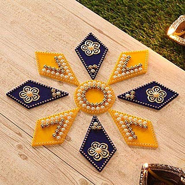 Lovely Pearl Designer Fiber Rangoli