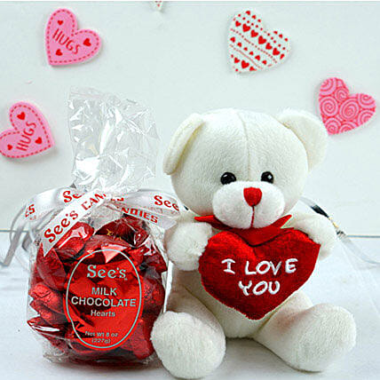 Milk Chocolates With Love Teddy