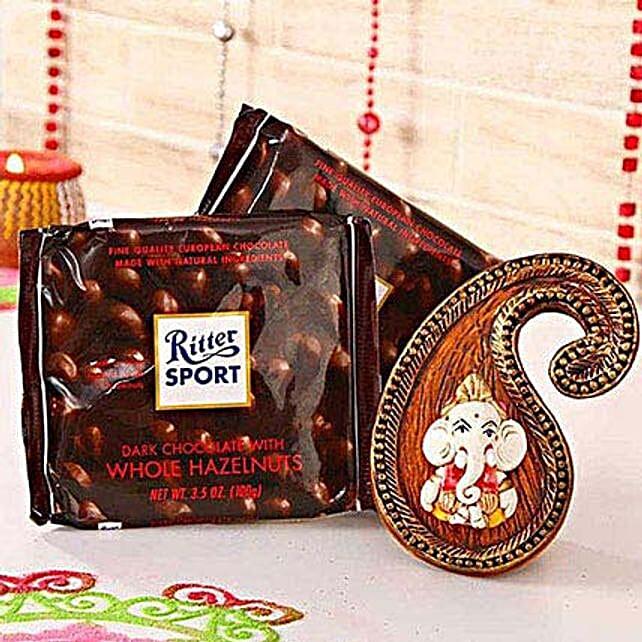 Paisley Lord Ganesha Wall Hanging N Ritter Chocolate
