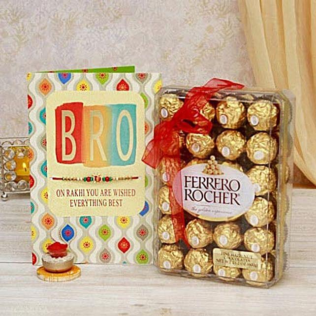 Rakhi Chocolates N Greeting Card