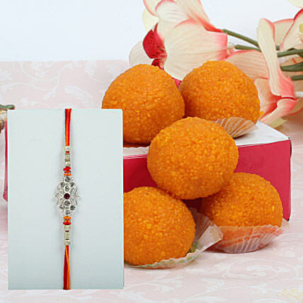 Rakhi with Motichoor laddu