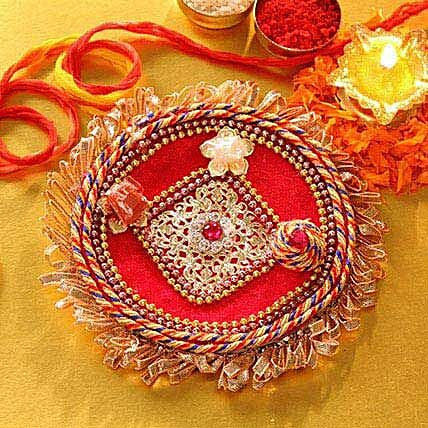 Red Ornamented Tikka Thali