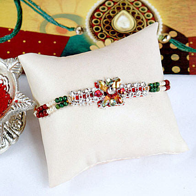 Sparkling Stonework Rakhi Thread
