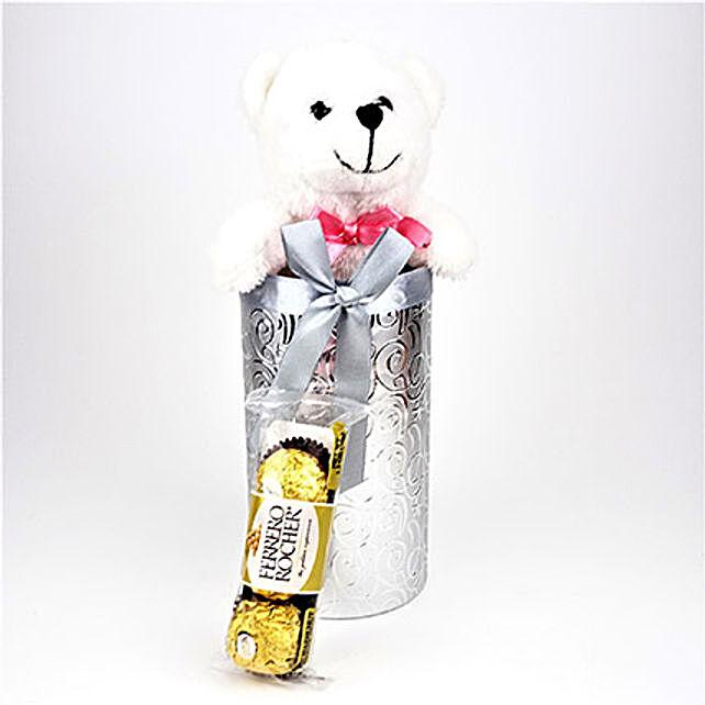 Teddy N Rocher In Silver Gift Box