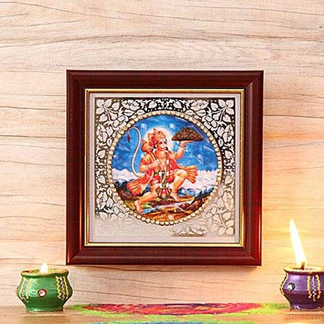 Wooden Frame of Lord Hanuman