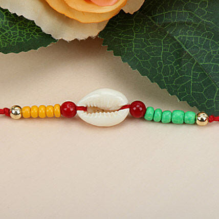 Sea Shell Charm Rakhi ZIM